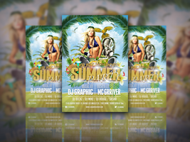 Exclusive Flyer Template PSD for the Summer Party by designfreebie