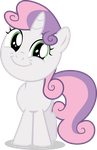 Sweetie Belle Is All Smiles by TomFraggle