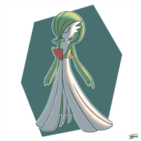 Day 08: Favorite Fairy - Gardevoir by Fehlung
