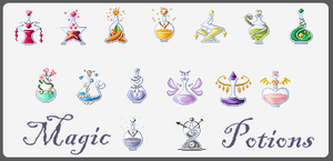 pixel potions project by iKiska
