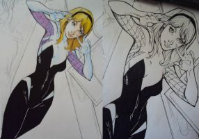 SpiderGwen- Progress by Gasperman100