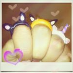 Clay Animal rings by sheamoonie