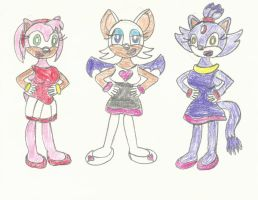 Sonic Girls' Gymnast Outfits by LouisEugenioJR