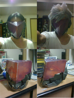 Metal Gear Rising Revengeance - Mask WIP by karlonne