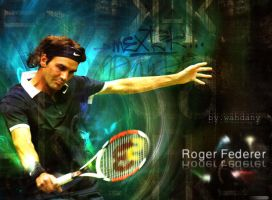 Roger Federer by alwahdany