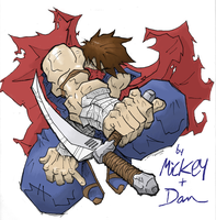 Strider Hiryu - Mickey and Dan by thelivingrobot