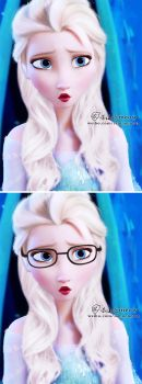 elsa with long hair by meowxiaoshou