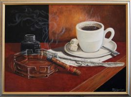 Cofee and sigar by chebot