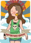 Adventure Time Style Catiniata - Back cover by catiniata