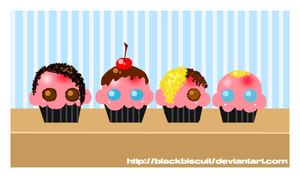 AFI Cupcakes - FRESH BAKED by blackbiscuit
