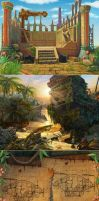 backgrounds by Alvor