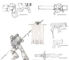 Imperial Weapons Sketches 4 by carlos1170