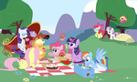 Mane Six Picnic Party by dm29