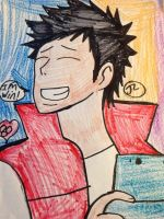 KHR He love play games of name is Nintendo3DS by Bluedragoncartoon