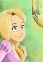 Rapunzel Tangled by Zharo
