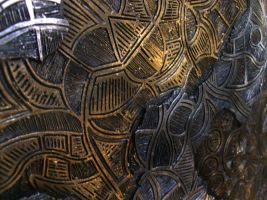 Dreamtime - Ceramic Discus 10 Detail by ArtGenEeRing
