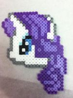 -Perler- Rarity Head by OtakuLuka