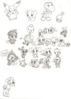 A Bunch of Chibis and Others by plushietoon