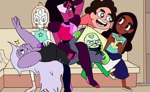 Steven Universe Draw the Squad Meme Couchtime by KarmaBanshee