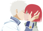 [Vector] Zen Wistaria and Shirayuki - First Kiss by Coolez