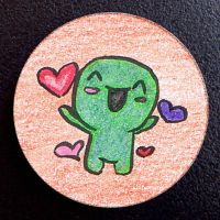 Hand Drawn Buttons - Happyx2 by gippentarp
