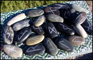 River Rock Runes by andromeda