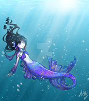 Little Mermaid Mariah by nocturnefox