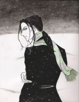 Young Severus in the Snow by Sayurisye
