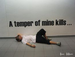 a temper of his, kills by fourfiftysix