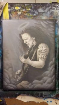 Dimebag Darrell Portrait  by Damagedink
