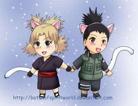 ShikaTema Chibi Kitty Dressup by BotanofSpiritWorld