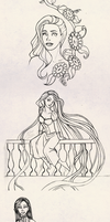 Tangled and more - Sketch Dump by Silent--Haze