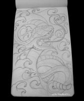 Snake tattoo sketch by psychopunkpk1