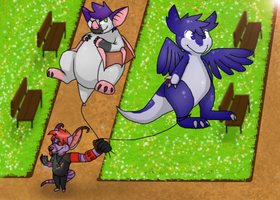 Ballons at the park ~ Comision for Ratce8386 by RIOPerla