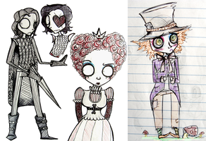 Alice in Wonderland Doodles by starblinx