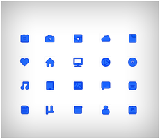 Blue Icons by Cleodesktop