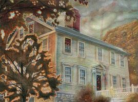 Autumn at the Shunned House by FatherStone