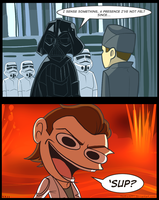 E Vs. Darth Vader by TtotheAFFY