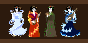 Vector Geishas by Nortiker