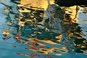 Boat reflections 3 - Samos by wildplaces