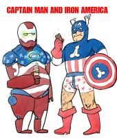 CAPTAIN MAN AND IRON AMERICA by cocokat