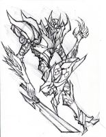 TFP Cybertronian Black Knight by winddragon24