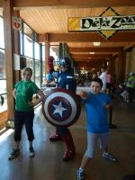 We met Captain America.... by AbbyCatWolff