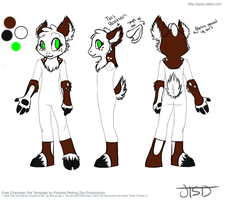 Fursuit Partial Reference Sheet: Pie by Jaydetheshadowdragon