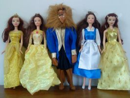 Beauty and the Beast dolls by peskypixie81