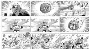 Star Wars Lego - Droid storyboards 2 by RobKing21