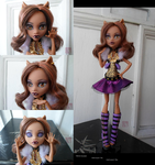 OOAK Monster High Ghouls Alive Clawdeen Repaint by TifaTofu