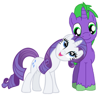Rarity x Spike by DarthGoldstar710