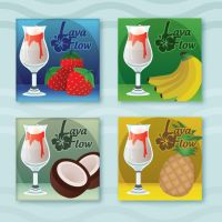 Lava Flow Coasters by drumcirclecreative
