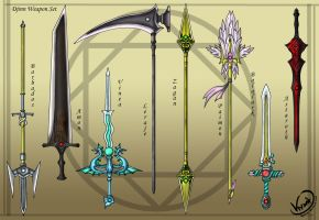 Djinn Weapon Set by AquaMind
